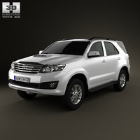3d model toyota fortuner 2012