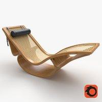 Rio Chaise Lounge Teak Corona