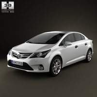 3ds max toyota avensis sedan 2012