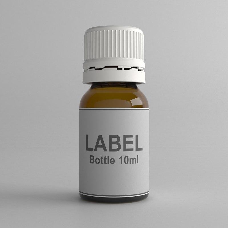 3D model 10ml bottle