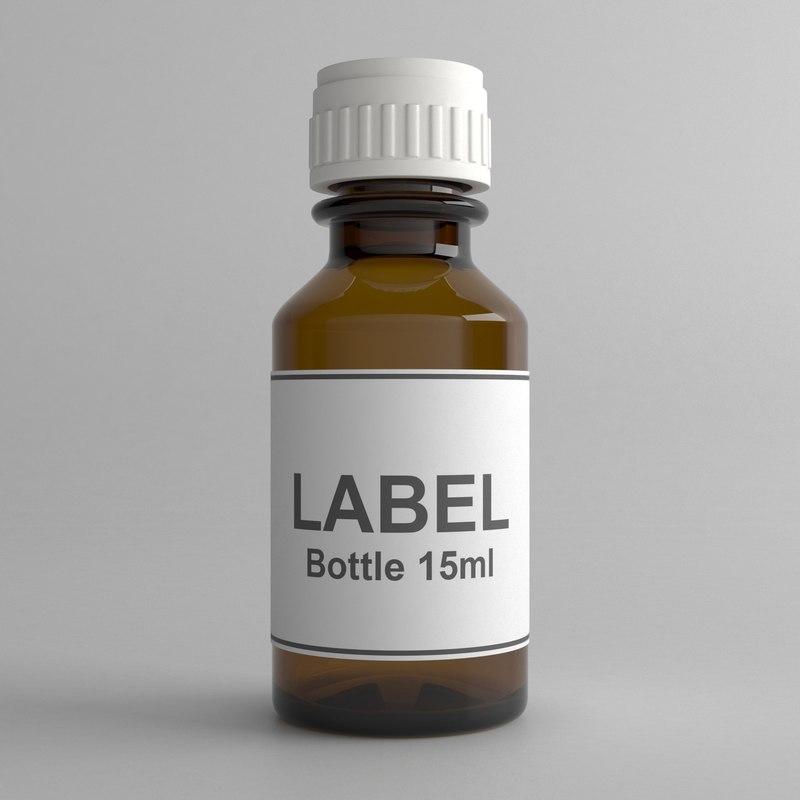 3D 15ml bottle model