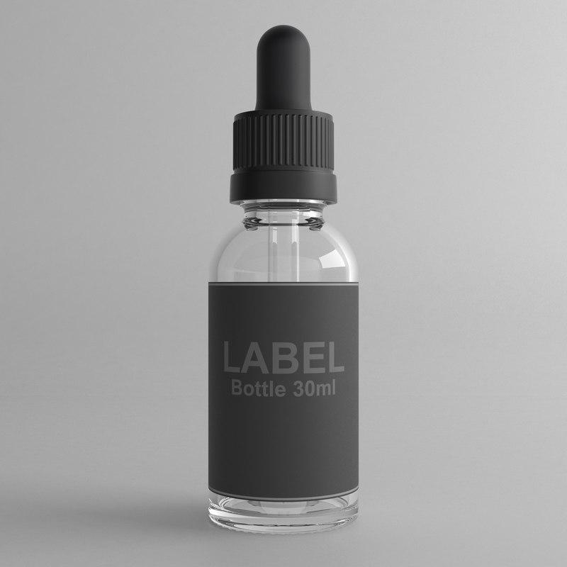 30ml dropper bottle 3D