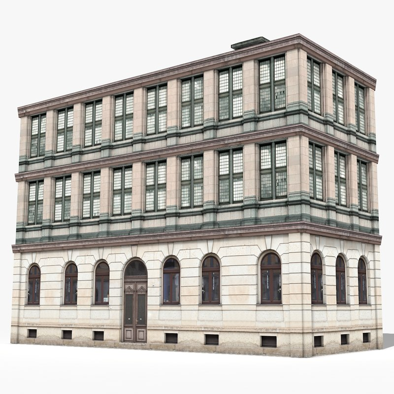 apartment building house 3D model