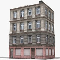 3D apartment building house