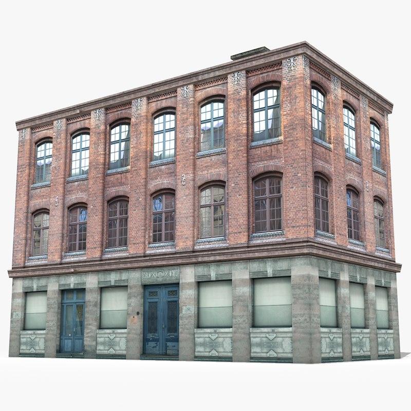 3D apartment building house