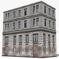 apartment building house 3D model