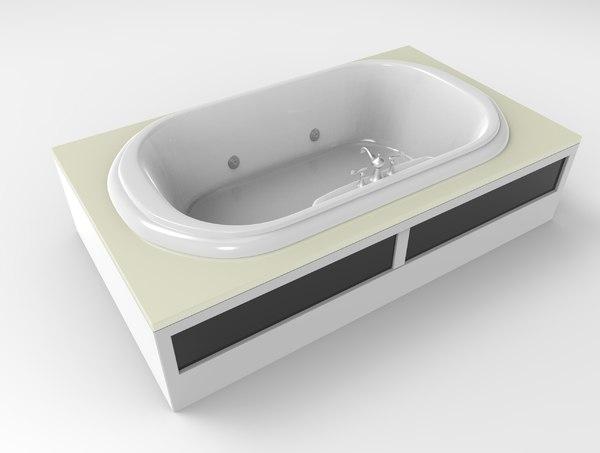 3dsmax bath tub bathtub