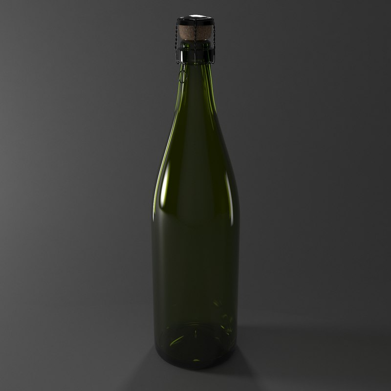 bottle champagne 3D model