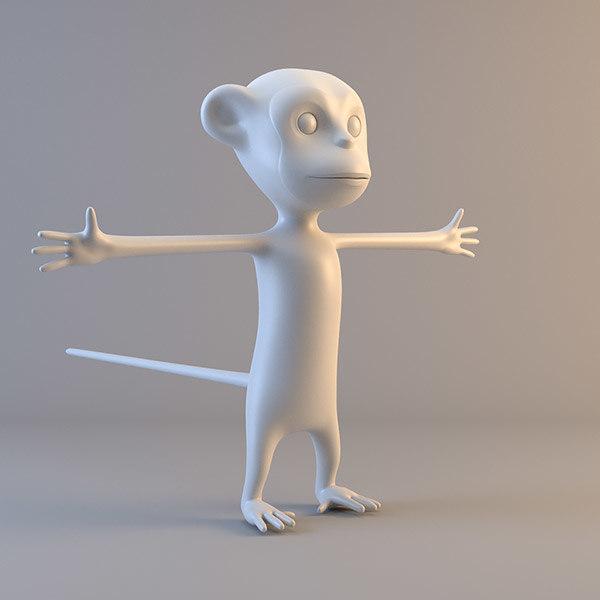 ape character 3d ma