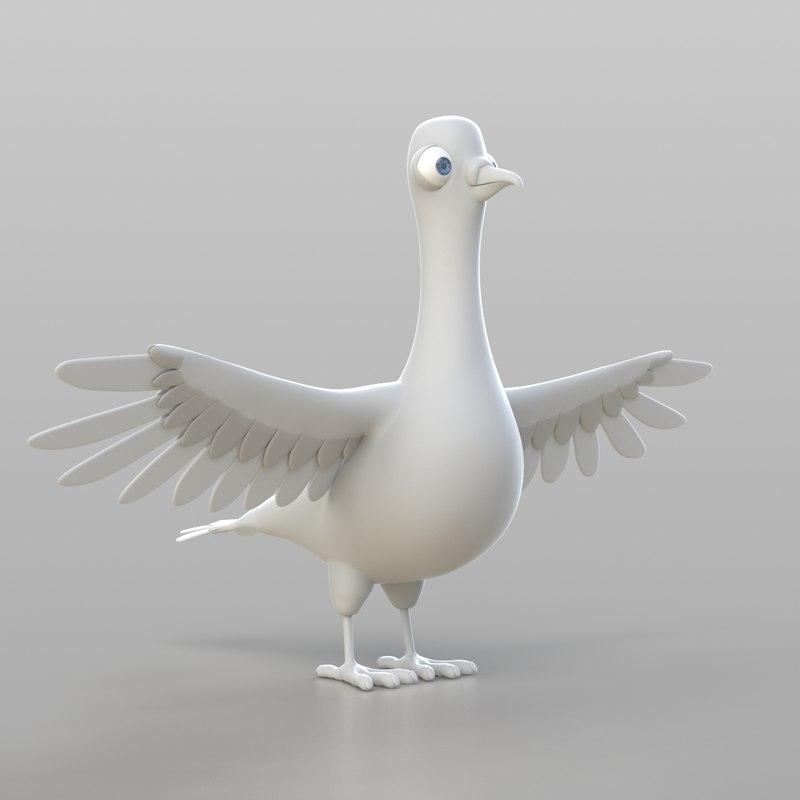 pigeon modelled ready 3d obj