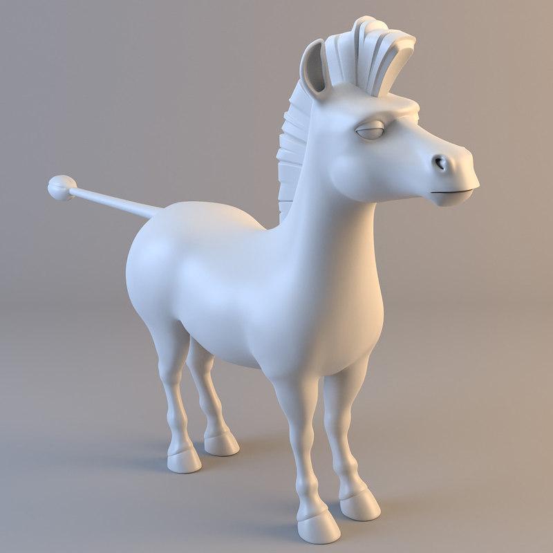 maya zebra modelled animal