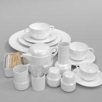 Tongana Acapulco cup plate teakettle toothpicks Creamer peppermint salt set