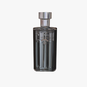 3D prada perfume bottle model