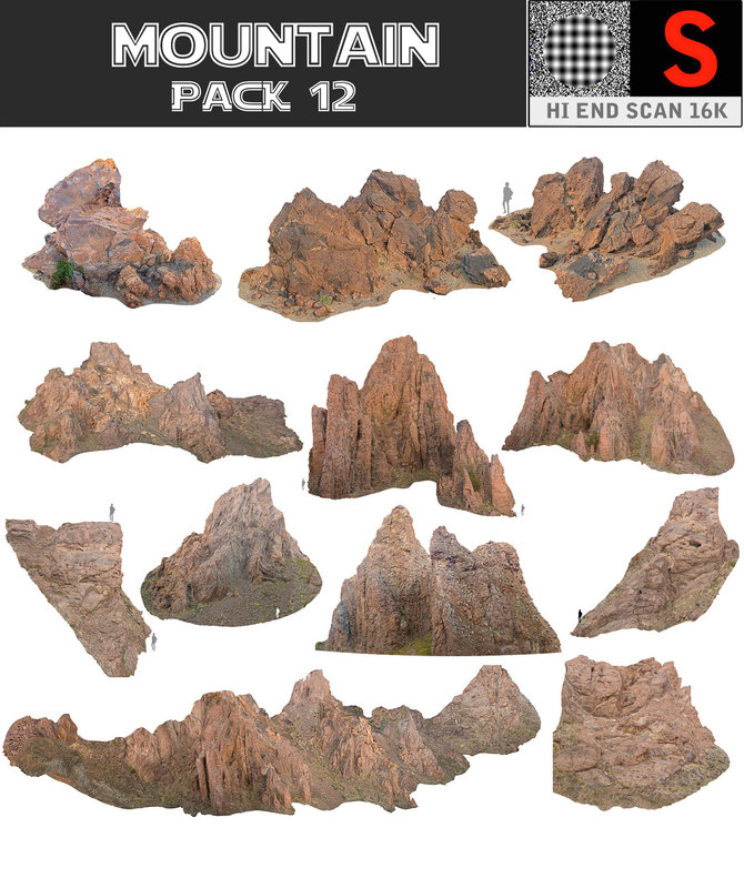 3D mountain pack 12