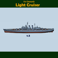 Light Cruiser Late 1940's V3