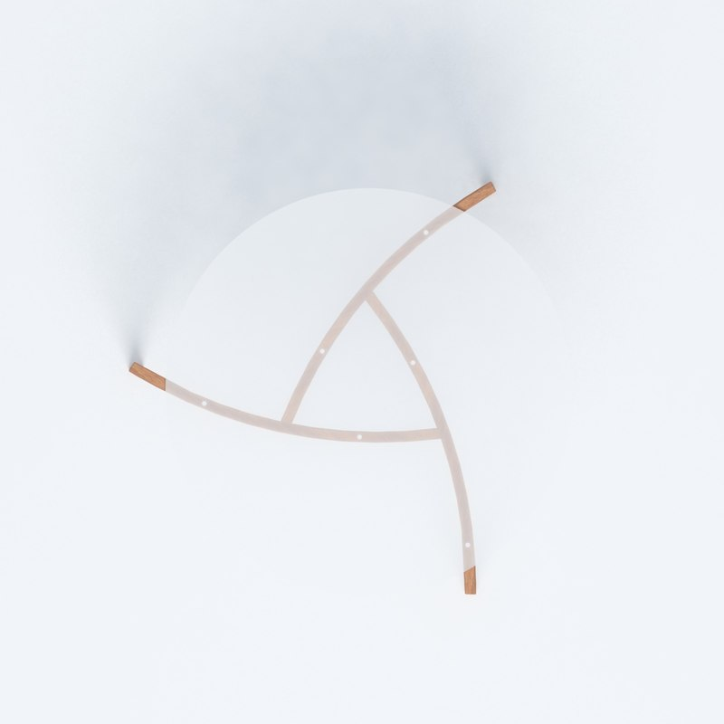 realistic glass table design 3D model