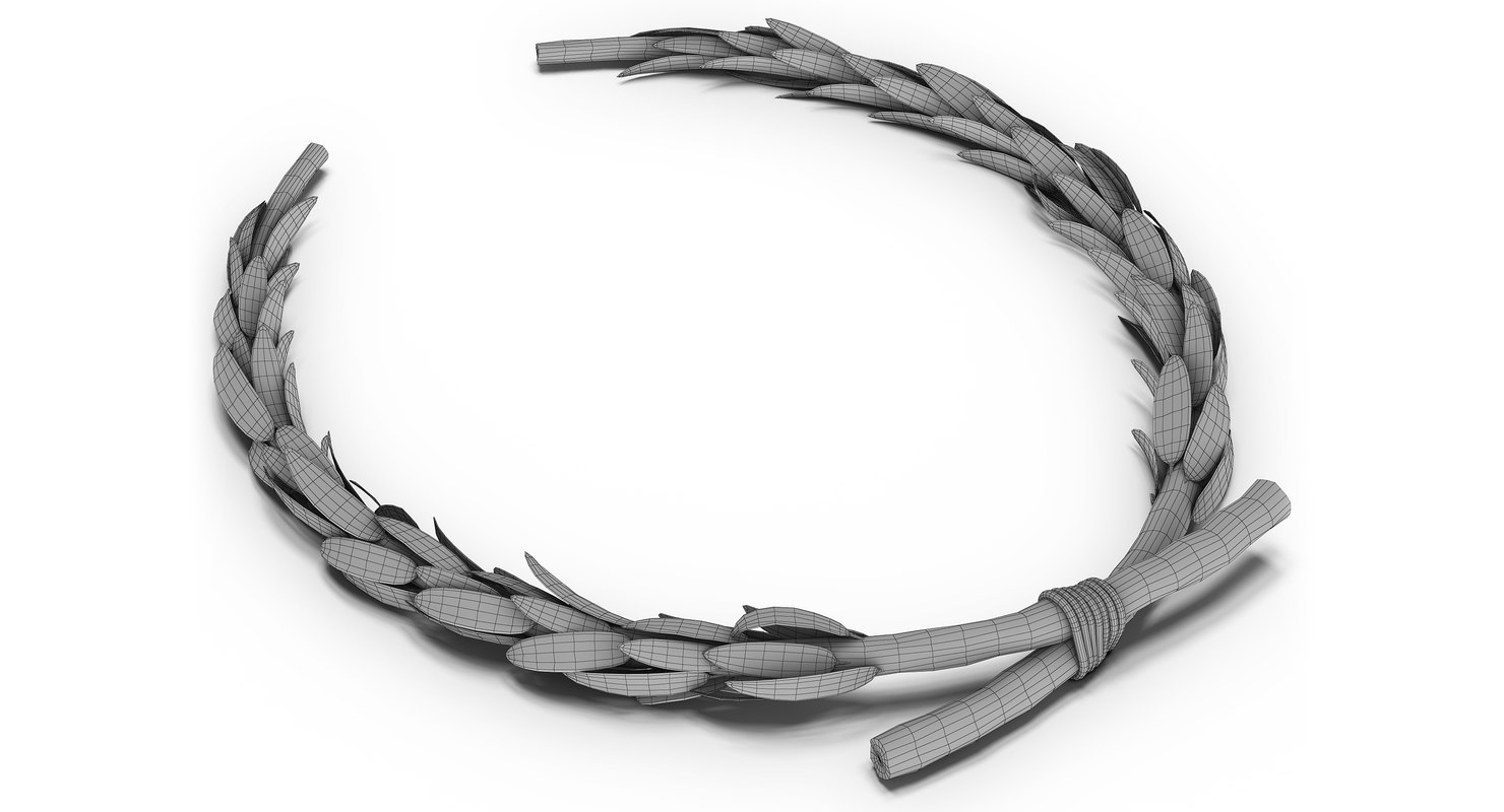 3ds Max Roman Laurel Wreath