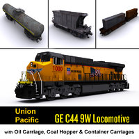 Union Pacific Locomotive & Cargo carriage