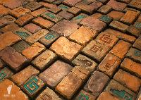 3 Aztec Stone Tiles