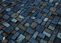 (3) Slate Stone Tiles Texture