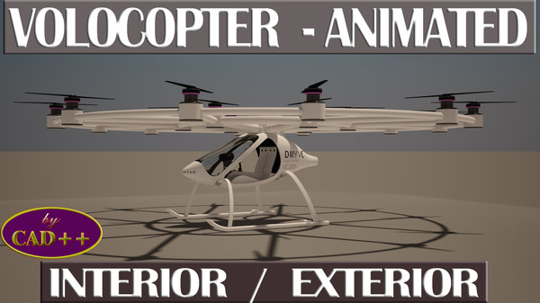 3d model of volocopter animation