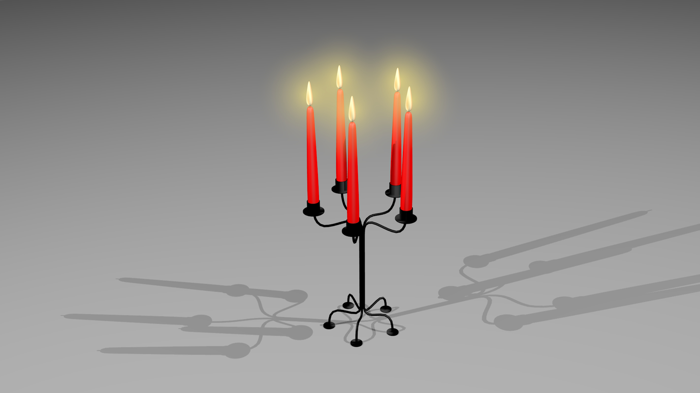 5 point candle holder obj free