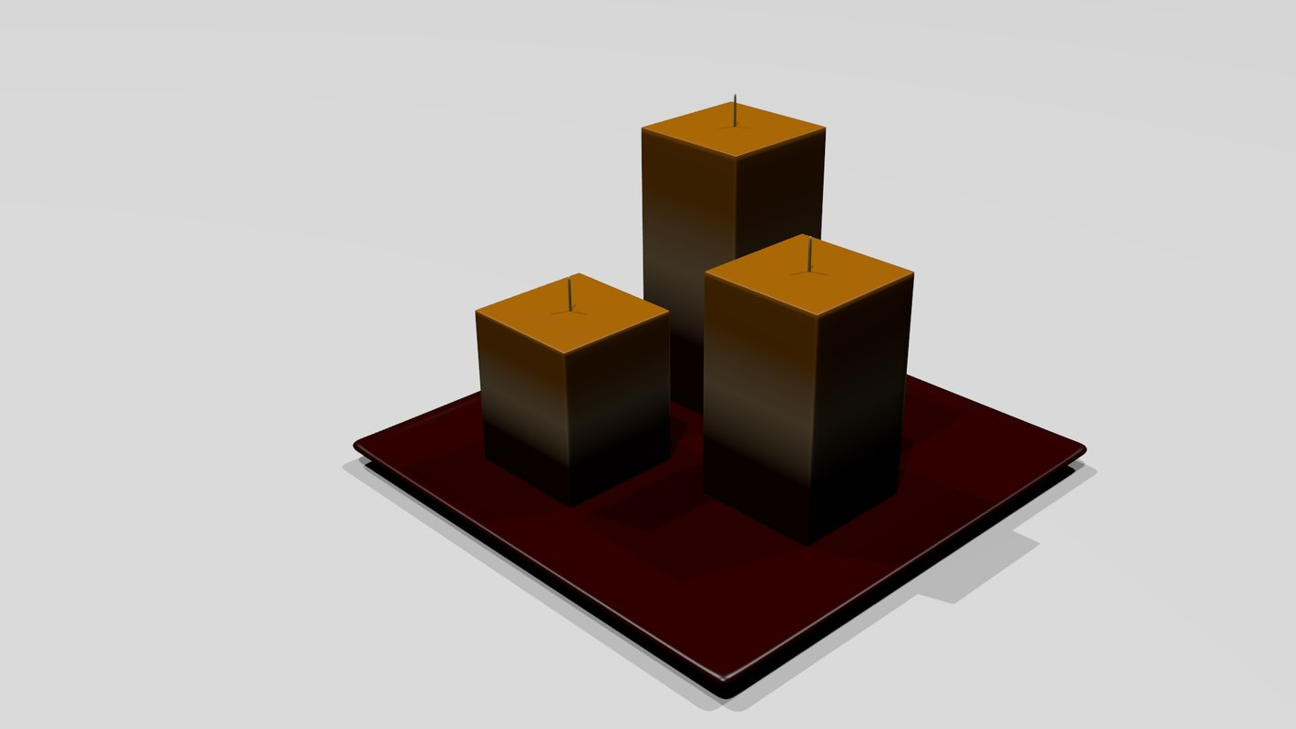 free candle garden 3d model