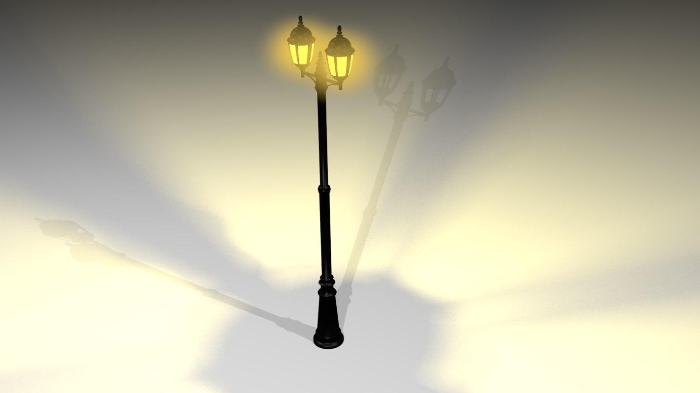 lamp post basic lighting 3d model