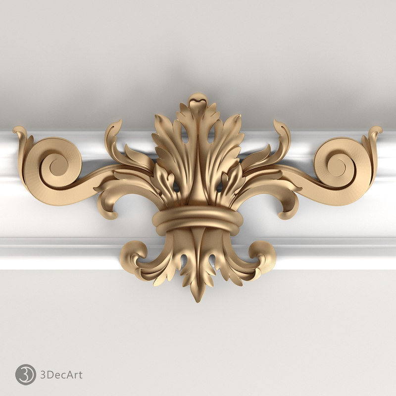profile decorative nv 3d model