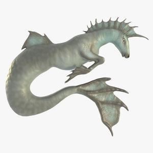 hippocampus sea horse 3D model