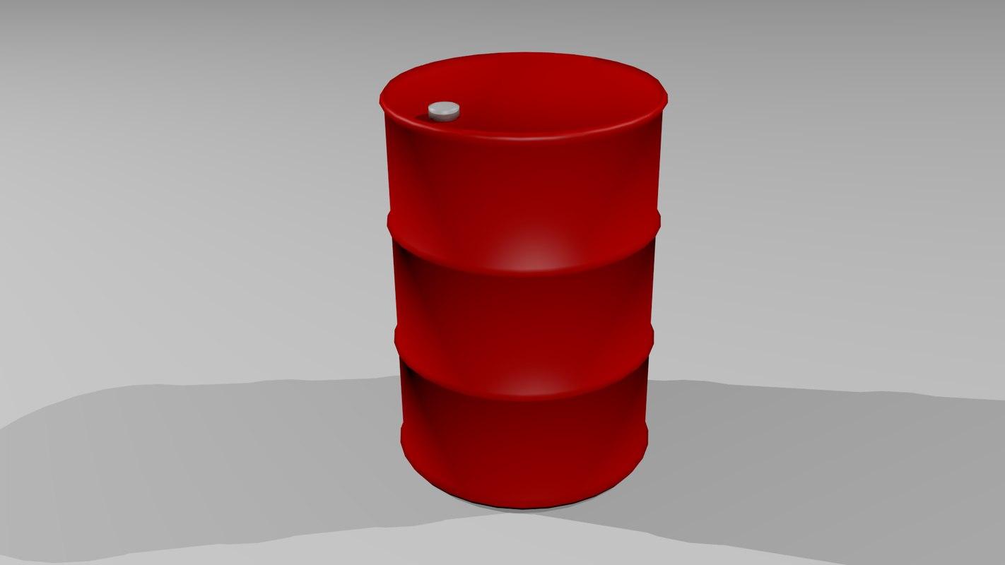 free oil drum 3d model