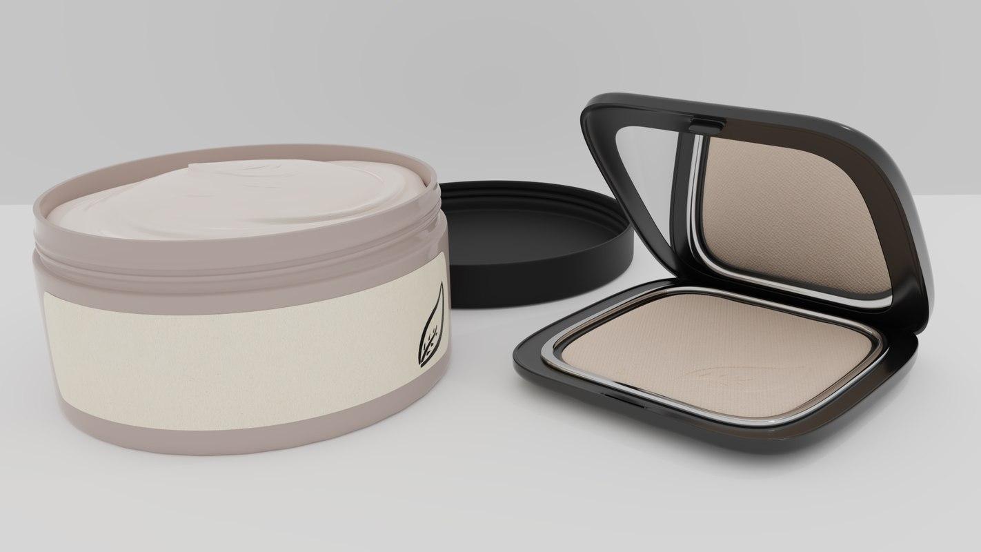 cosmetics makeup beauty 3D model