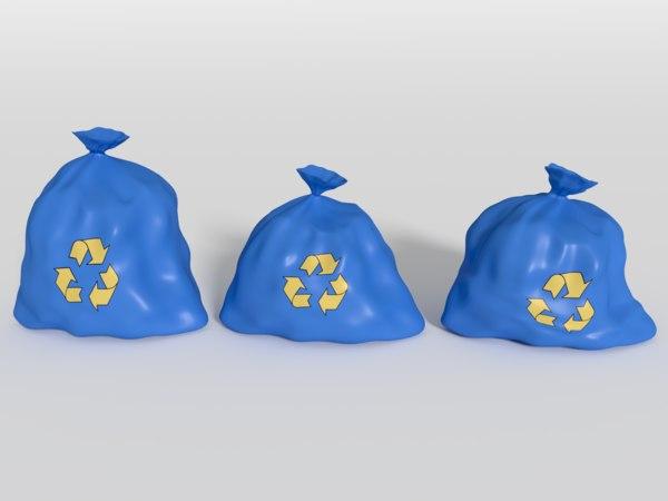 3d model of street bin