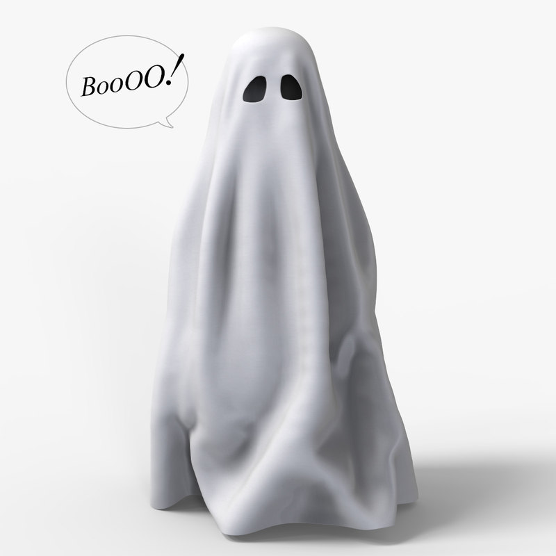3d funny ghost