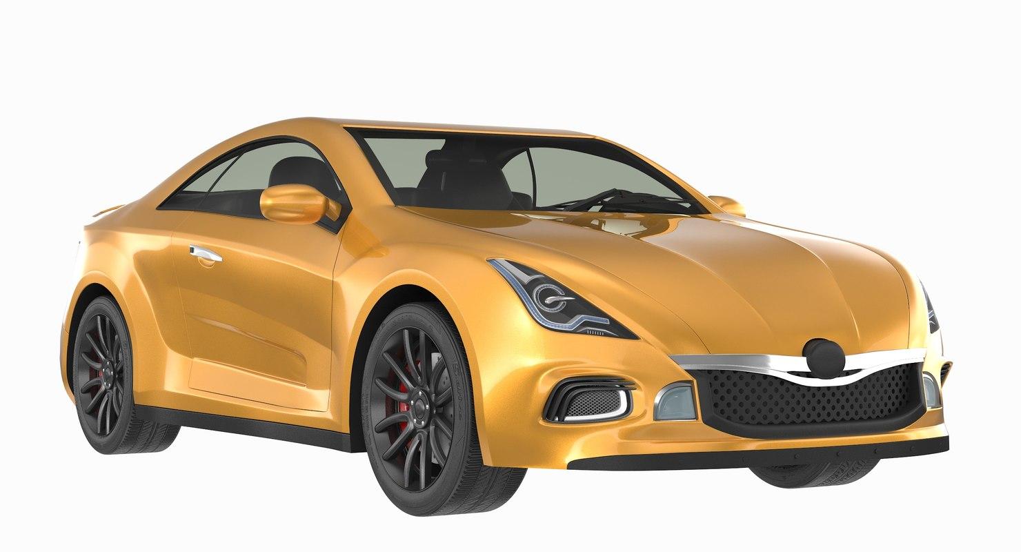generic sport car 2 3D