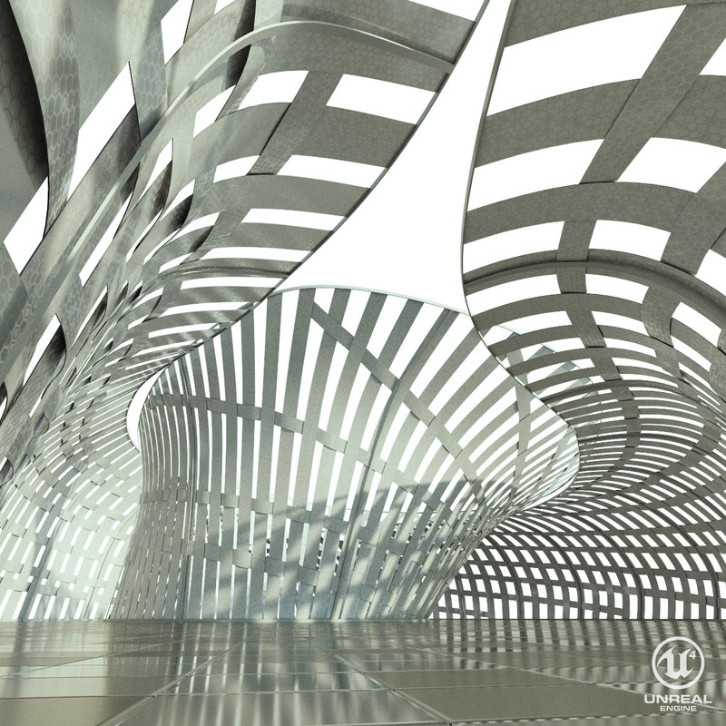 structure lights space 3d max