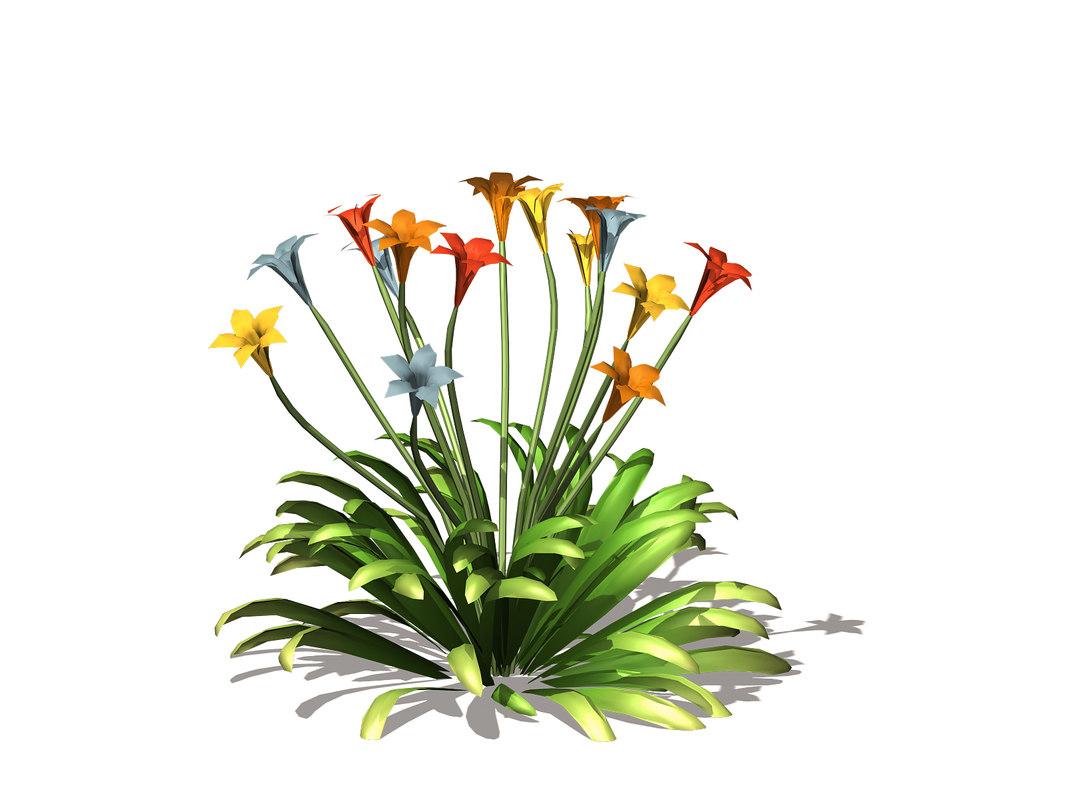 3D wildflowers flower model