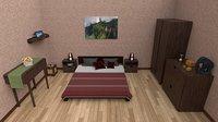 ethnic bedroom bed model