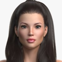 princess angie female hair 3D model