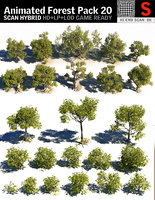 forest pack 20 tree 3D model