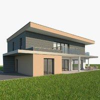 3d modern single family home