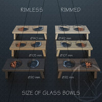 3D bowls food water