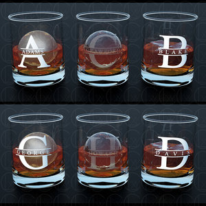 custom print glass whiskey 3D