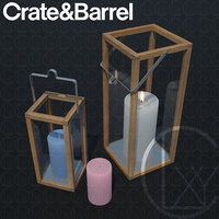 Crosby Lantern Glass lantern case candles