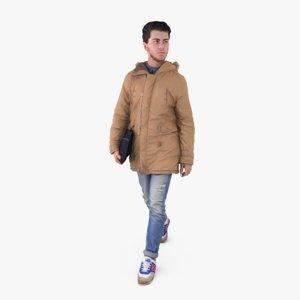man winter 3d model