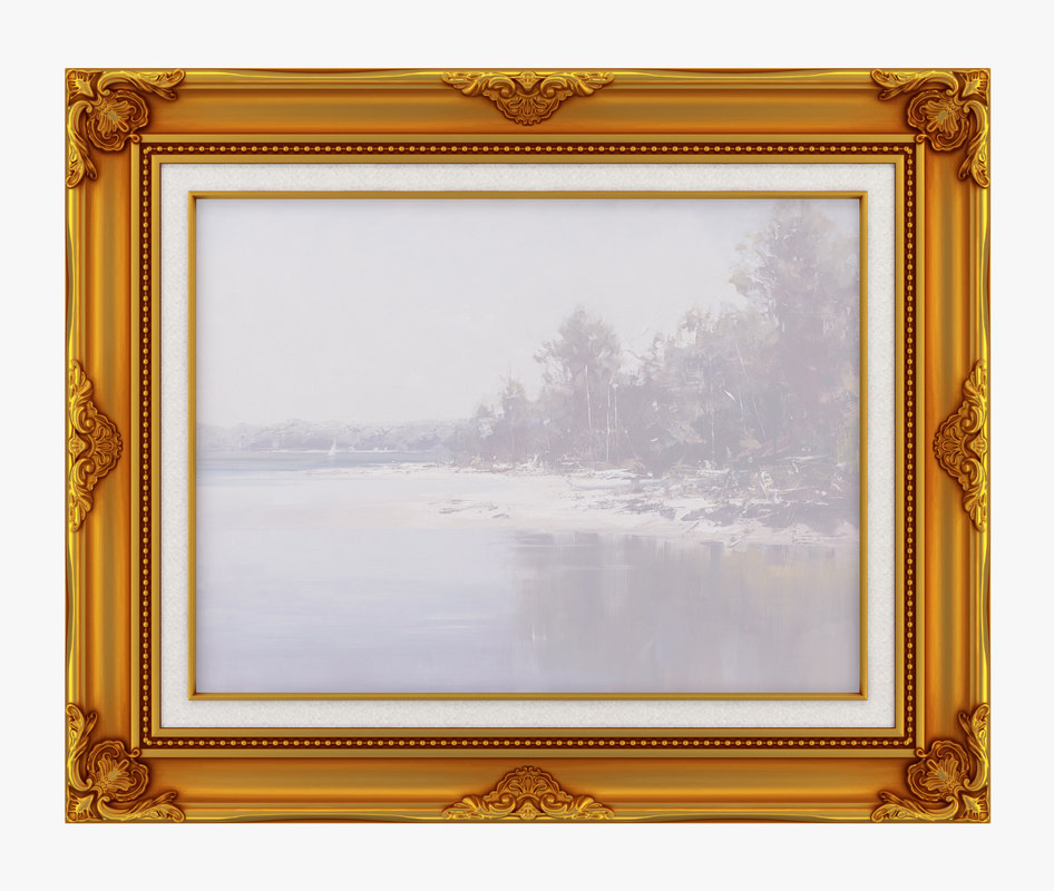 frame picture old 3D model