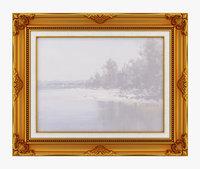frame picture old 3D model