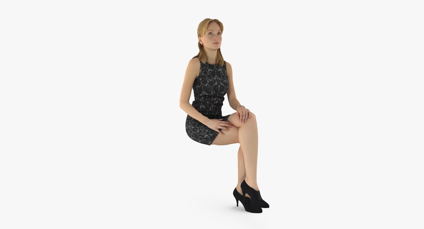 3d model woman female human