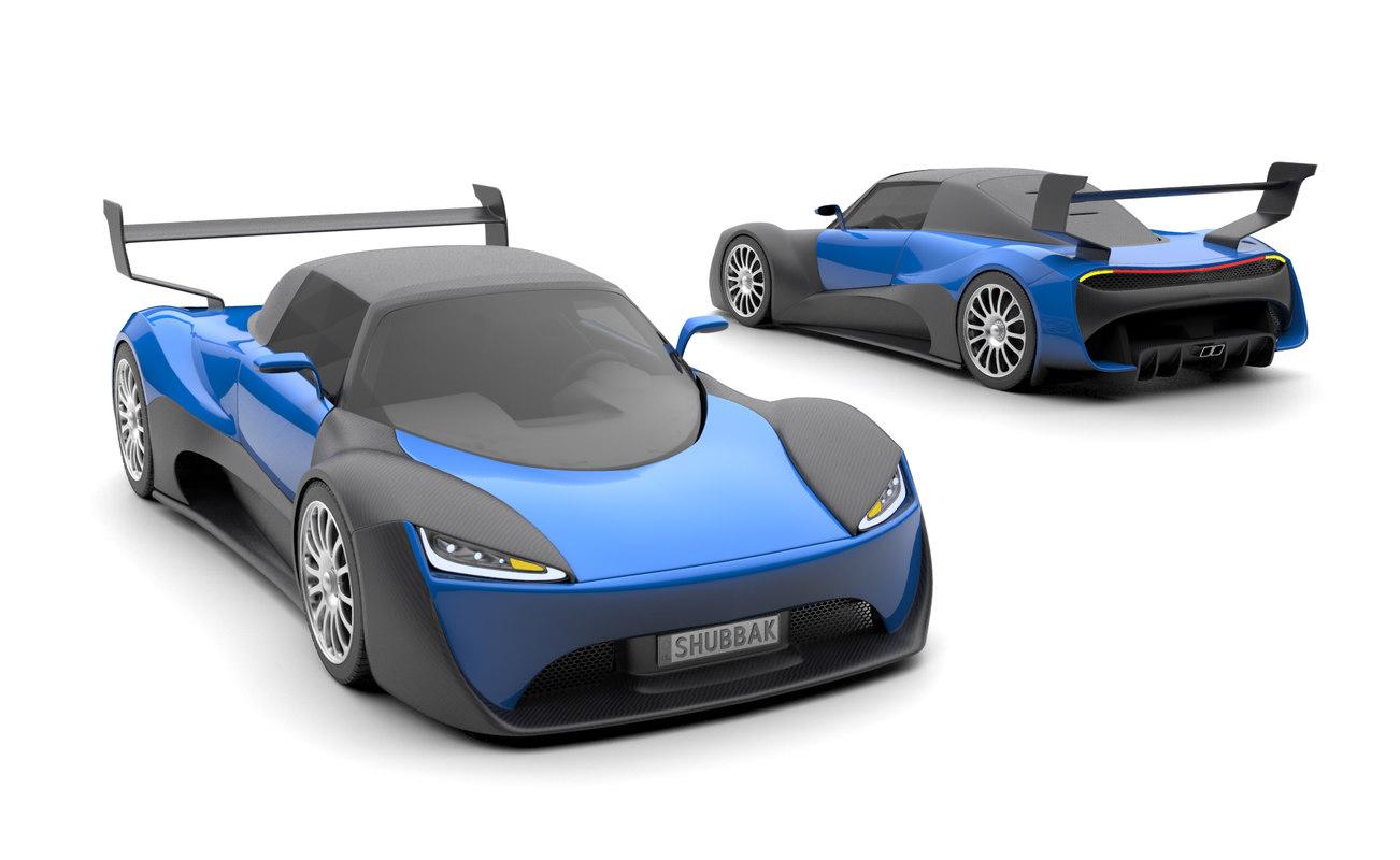 supercar formats 3D model