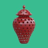 3d lantern ceramic model